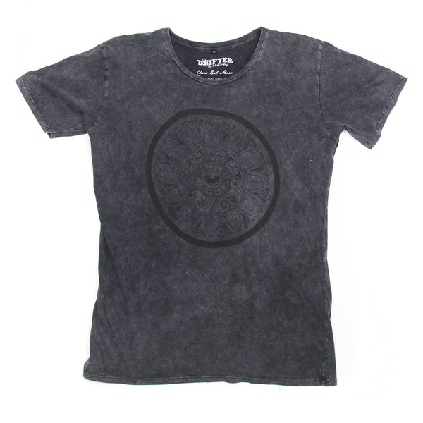 Mens Mandala Eye Black Acid Tee