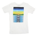 Mens Rolling Wave Pocket Tee White