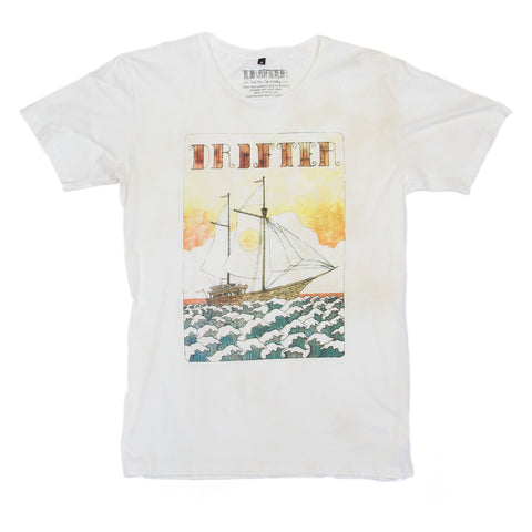Pirate Ship Tee - Tea Stained