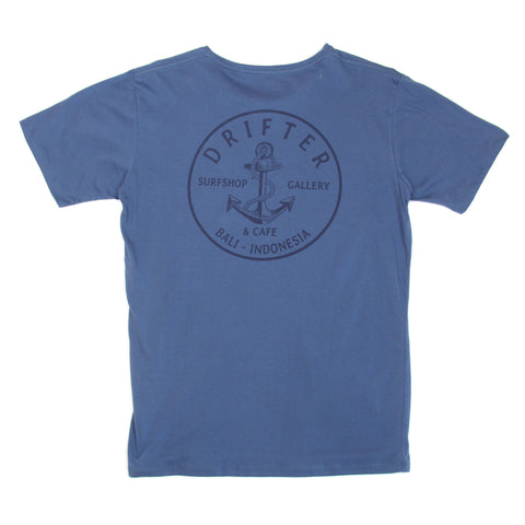 Mens Anchor Patch Teal Tee