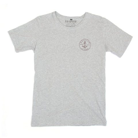 Mens Anchor Patch Misty Grey Tee