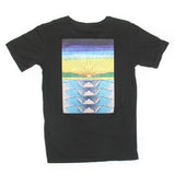 Mens Rolling Wave Pocket Tee Black
