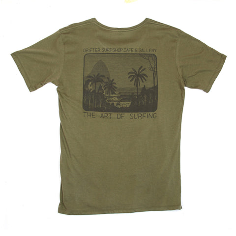 Mens Captain Good Vibes Olive Tee