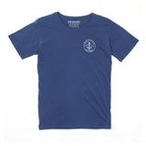 Mens Anchor Patch Indigo Tee