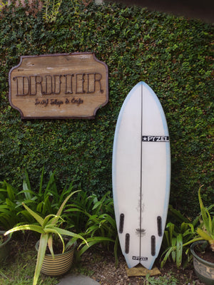 "Pyzel Surfboards | Astro Pop Model 5'3"" Quad #17062"