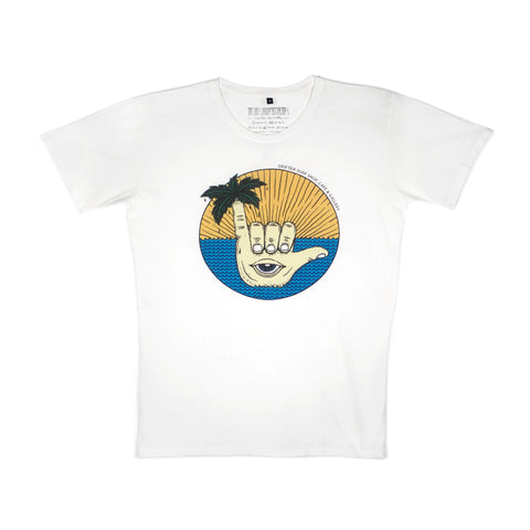 MENS SHAKA WHITE T- SHIRT