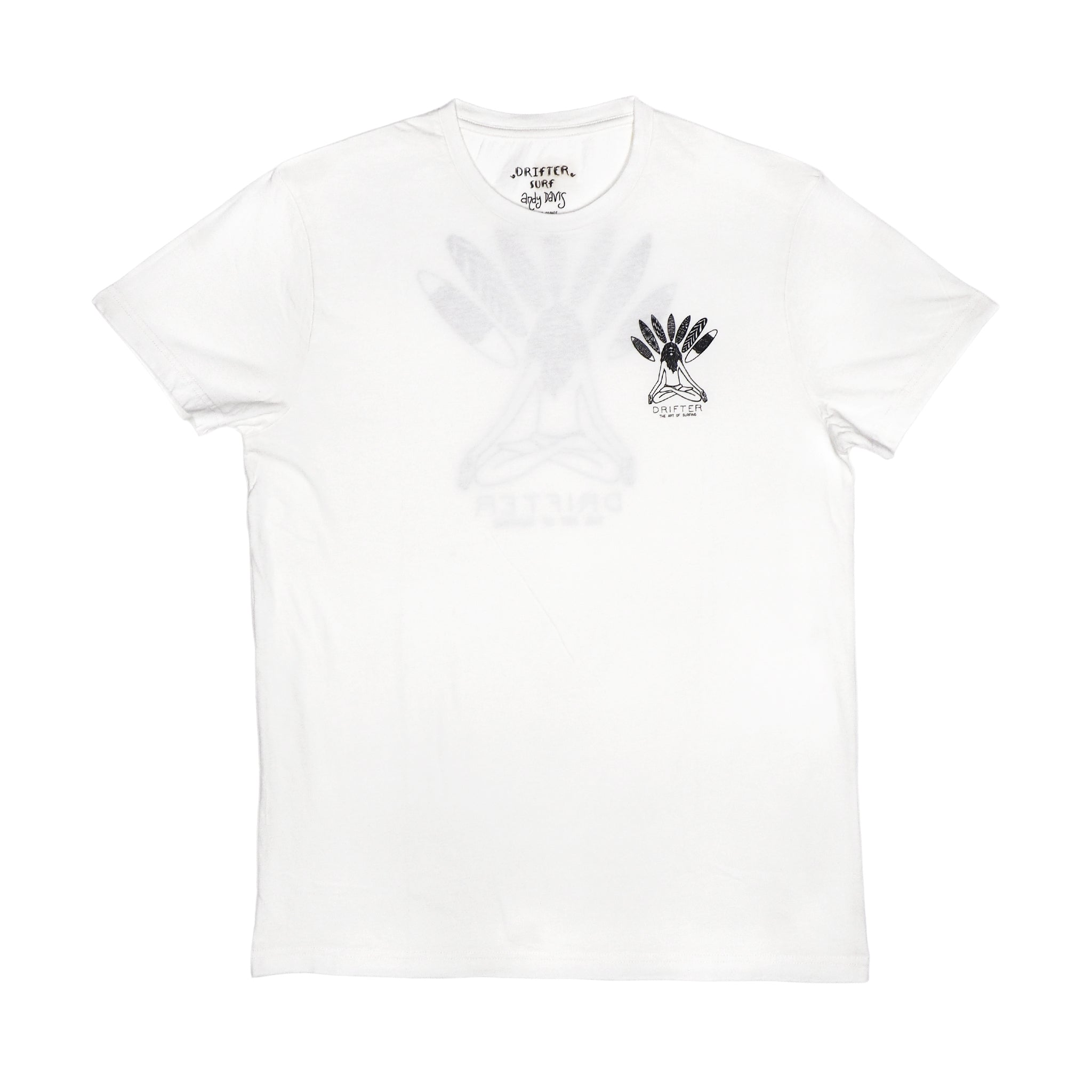 MEN-S GURU POCKET WHITE T-SHIRT