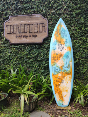 "Dead Kooks Surfboards | FlatDeck Model 5'9"" Thruster #13693"