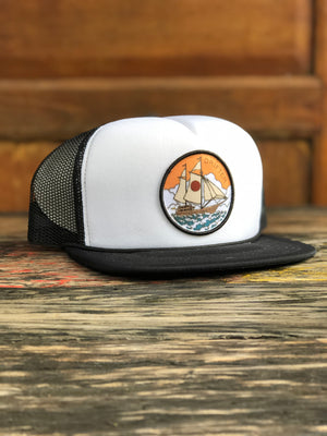 PIRATE SHIP TRUCKER CAP