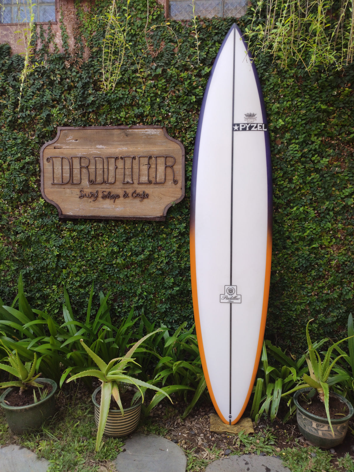 "Pyzel Surfboards | Padillac Model 8'0"" Quad #17774"