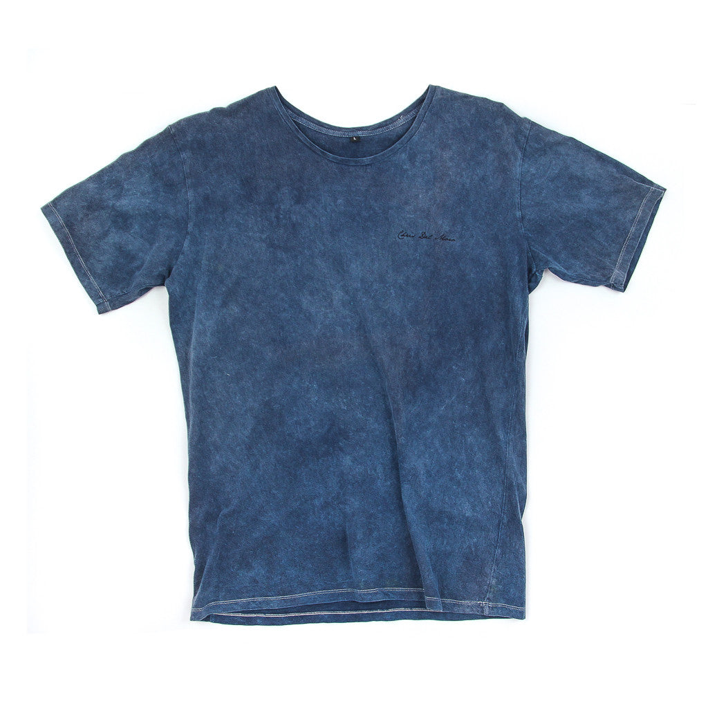 Mens Crystal Vibes Navy Acid Tee
