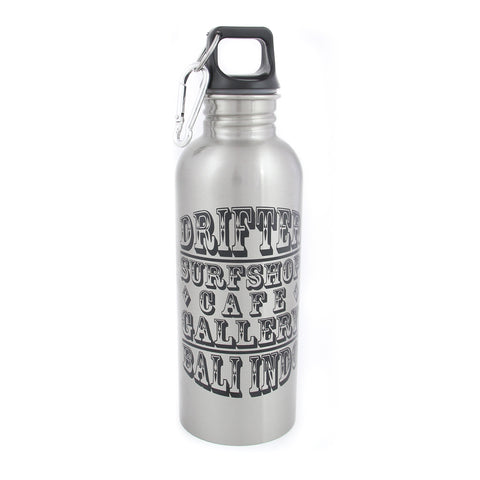 Drifter Water Bottle Silver