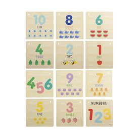 Numbers Wooden Book