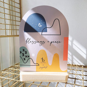 Open image in slideshow, Blessings & Peace Artcard