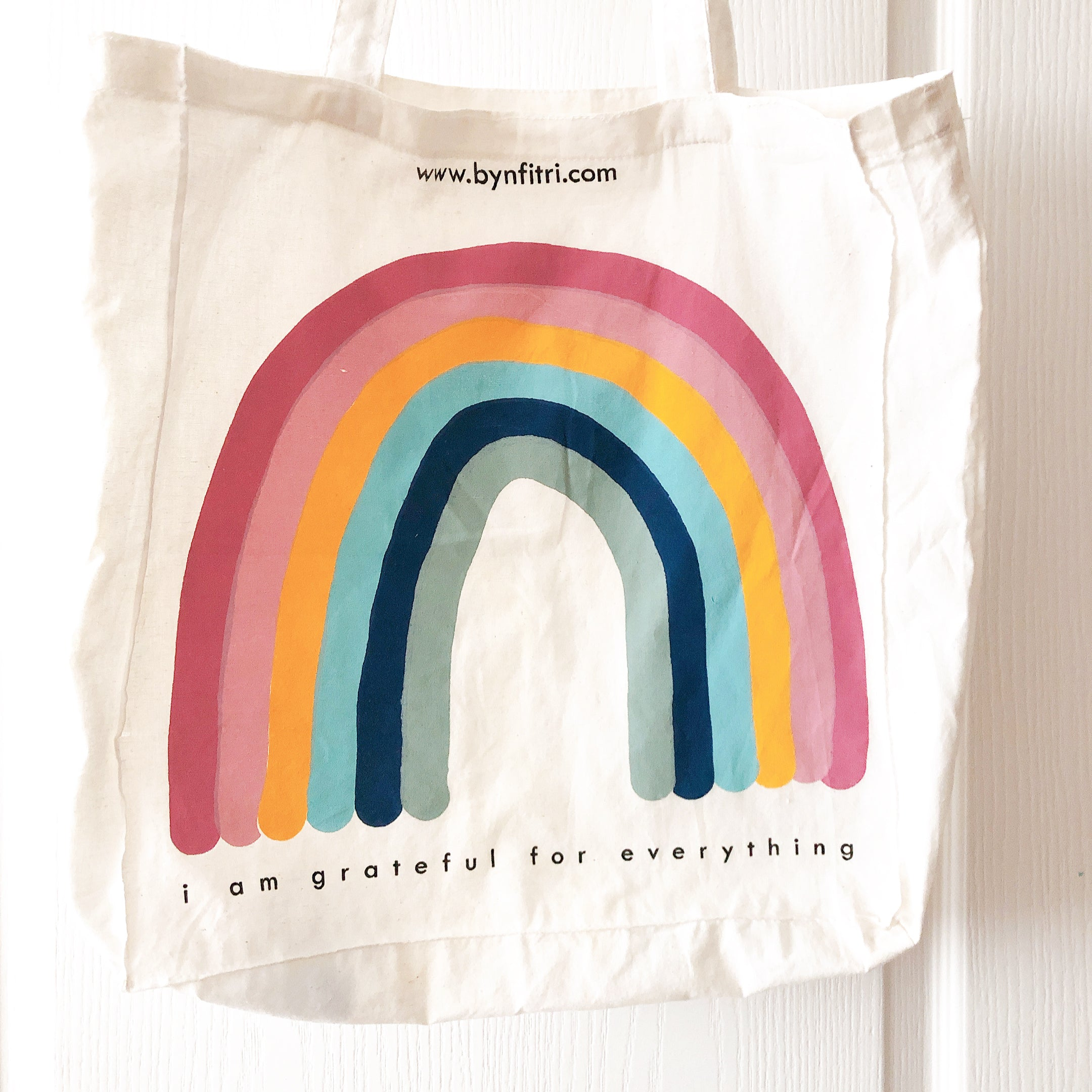 Oversized Rainbow Tote Bag
