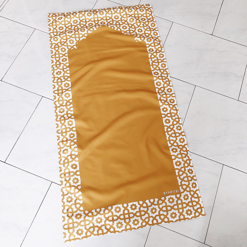 Mustard travel prayer mat