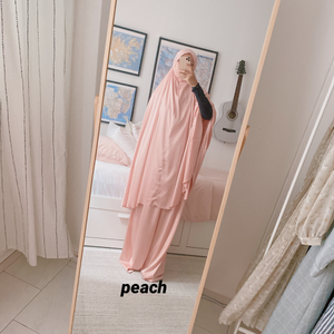 Petite Prayer Robe in Peach