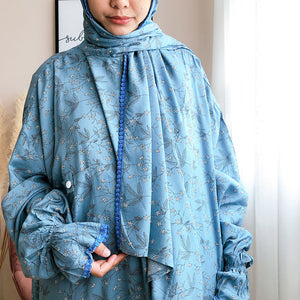 Open image in slideshow, whimsical blue raudah prayer