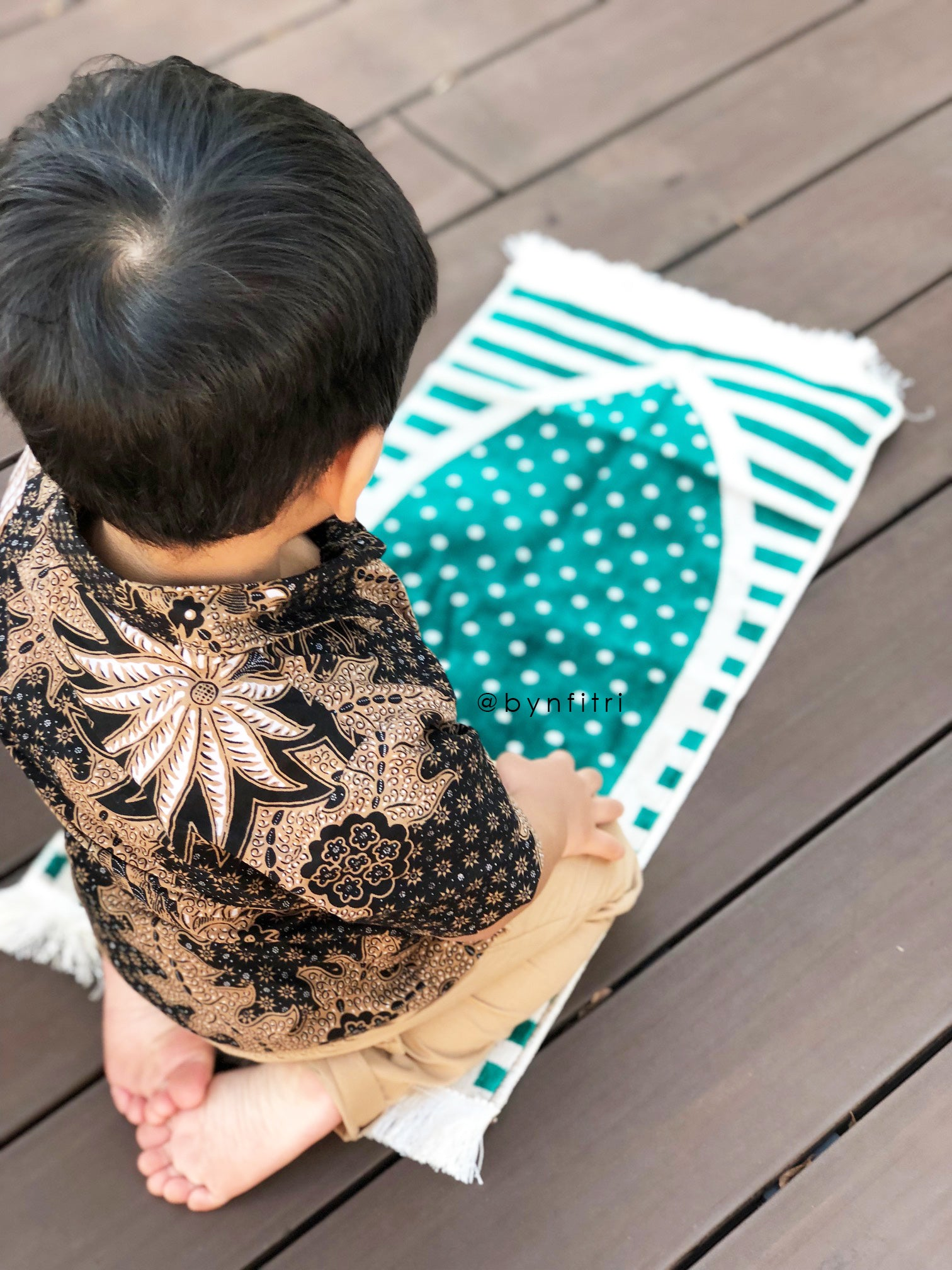 Toddler prayer rug in blush