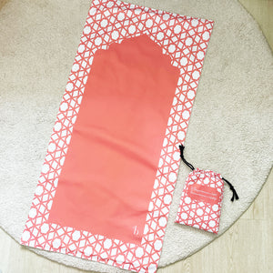 Open image in slideshow, Peach travel prayer mat