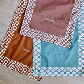 Peach travel prayer mat