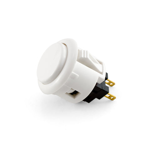 OBSF 24mm Snap-In Pushbutton (White)