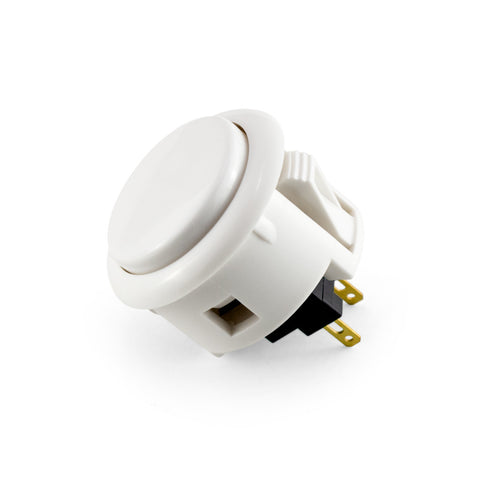 OBSF 30mm Snap-In Pushbutton (White)