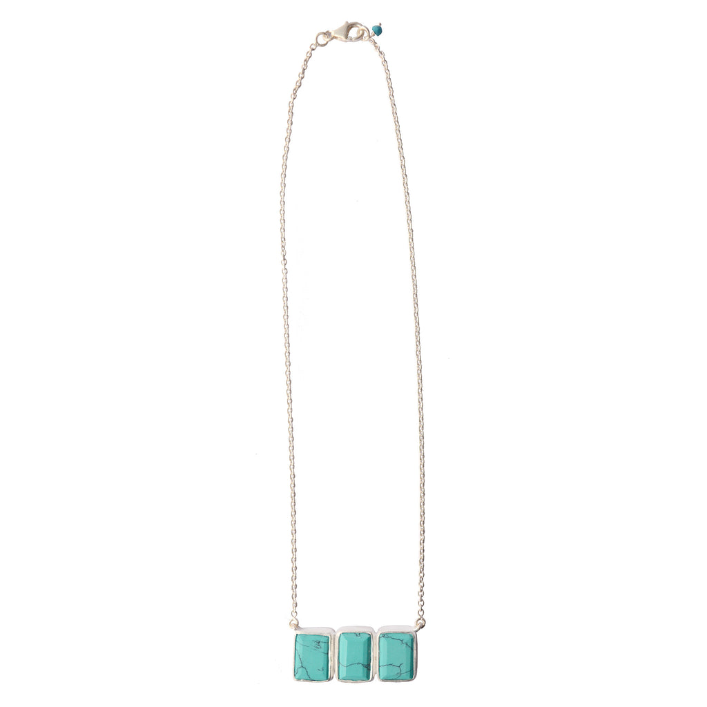 Bar Necklace - Turquoise