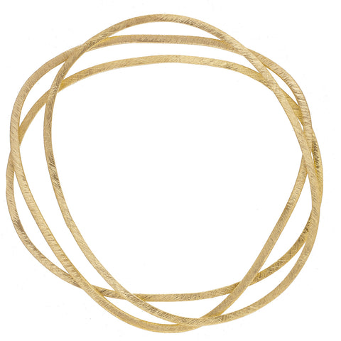 Set of 3 Gold plate Irregular Bangles