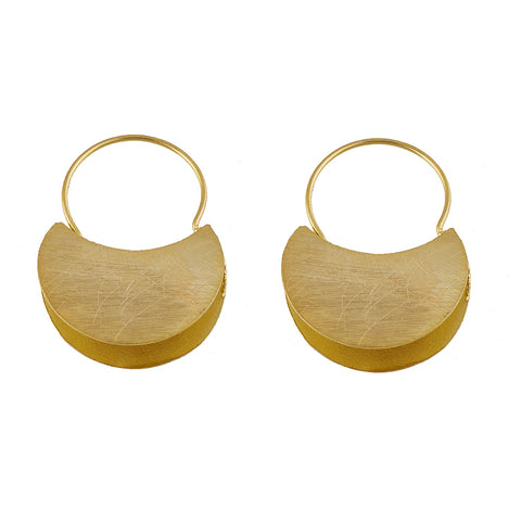 Gold Plate Hoop Earrings
