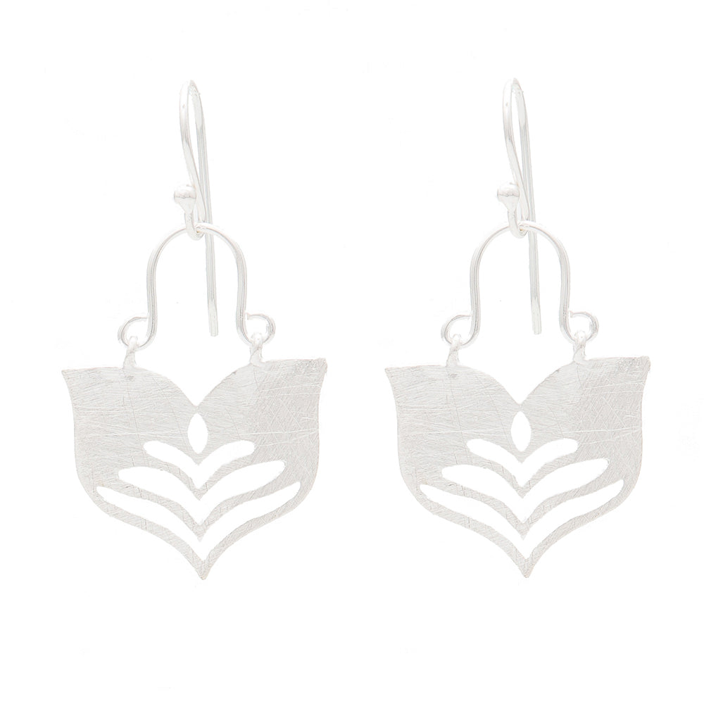Silver Lotus Earrings