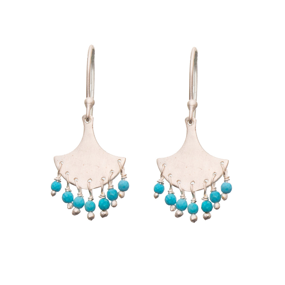 Silver Splash Turquoise earrings - SOLD OUT