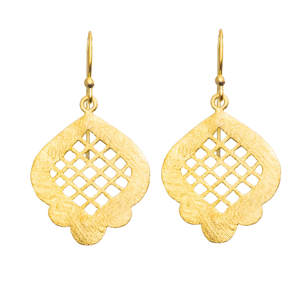 Gold plate Moroccan Window Earrings - SOLD OUT