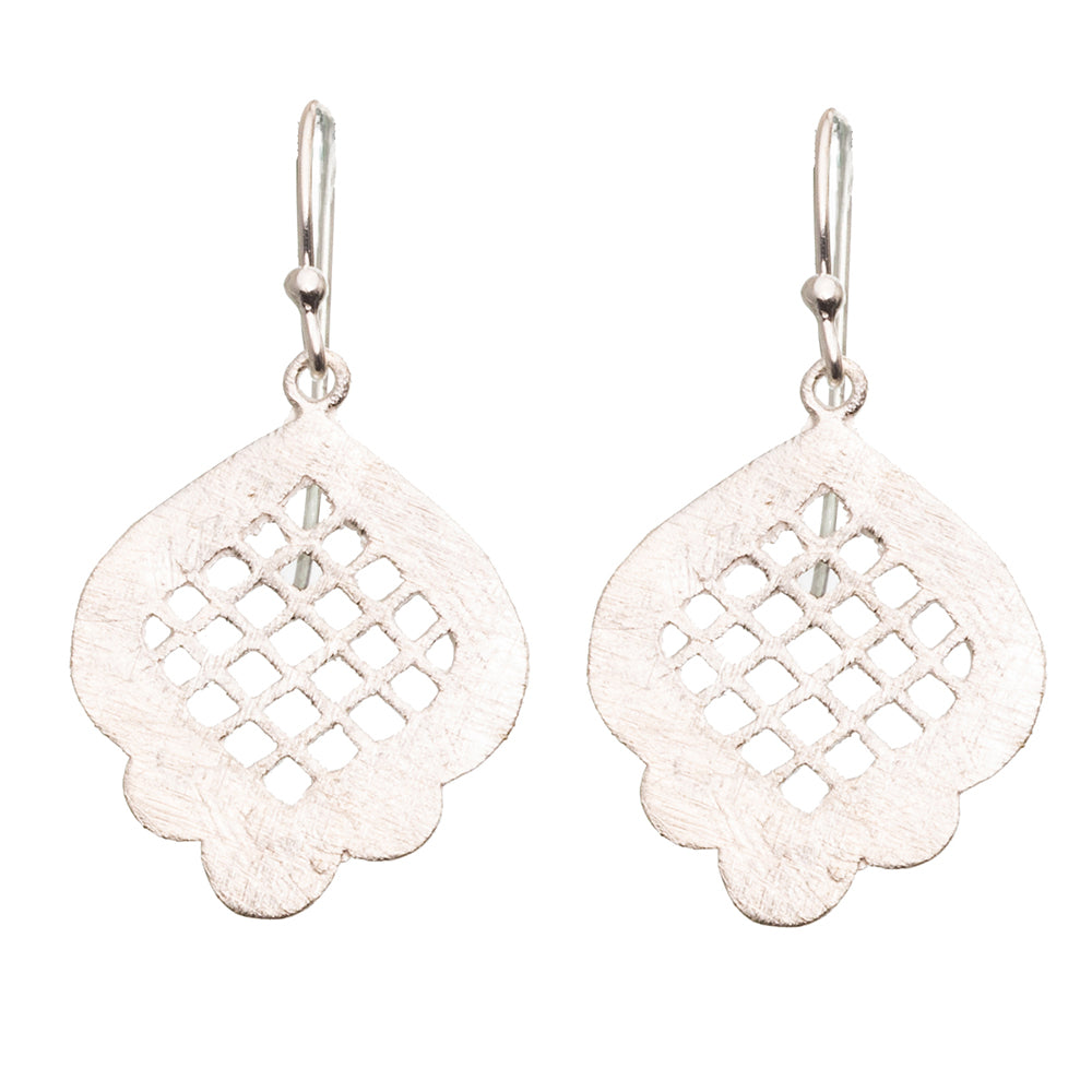 Silver Moroccan Window Earrings