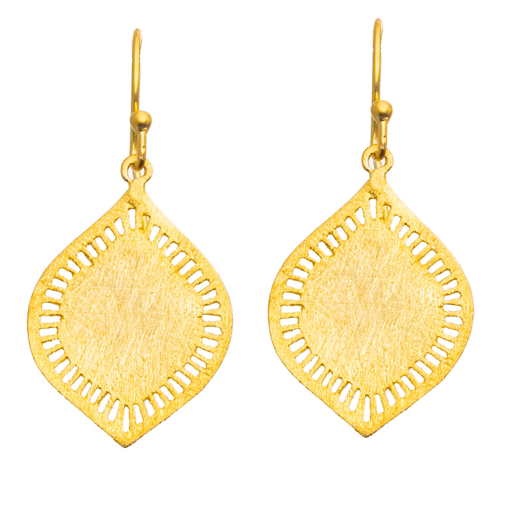 Gold plate Petal Earrings