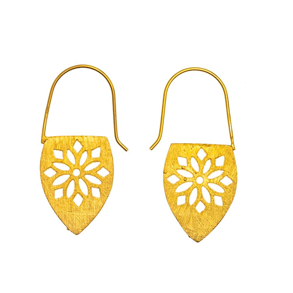 Gold plate Lantern Earrings