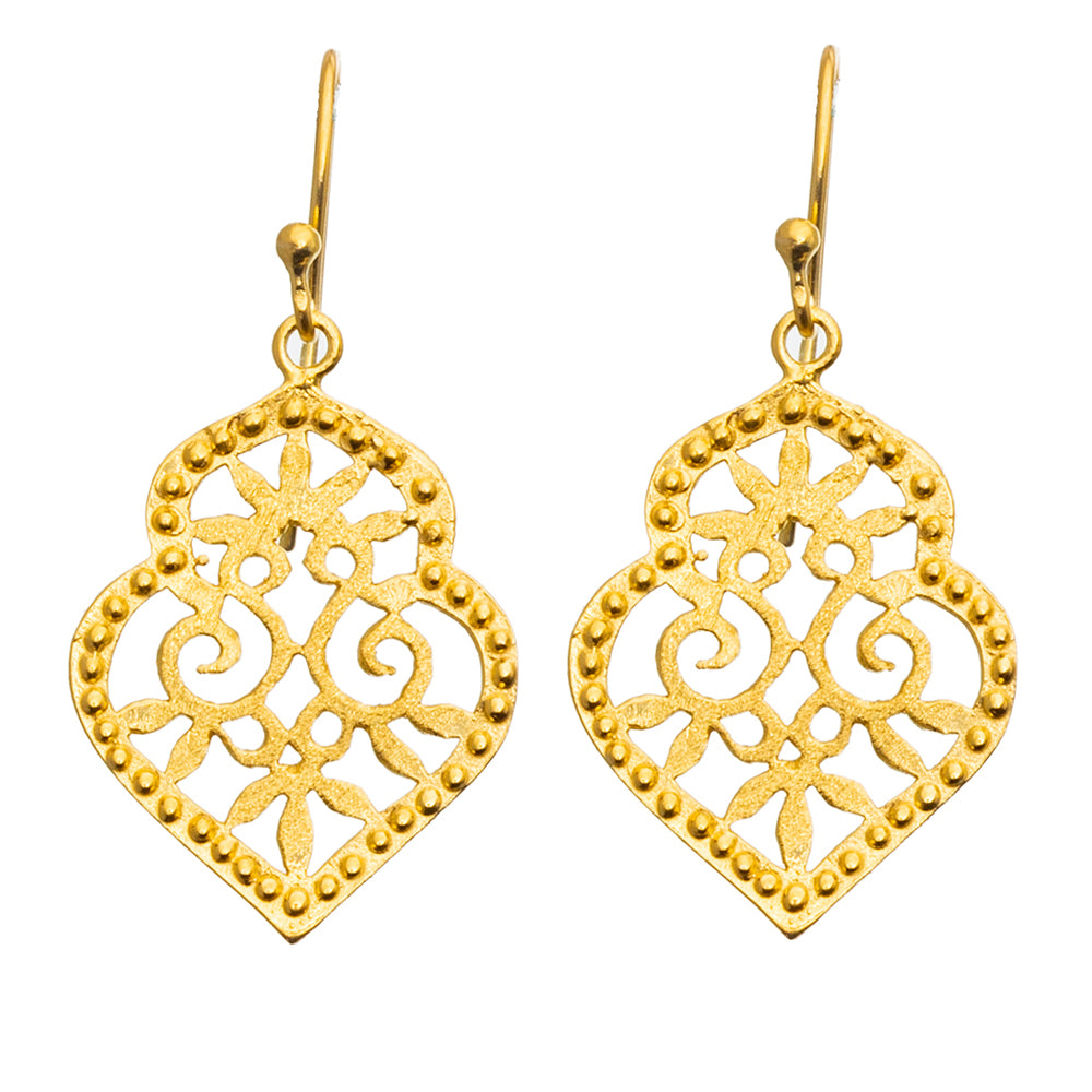 Gold plate Medina Earrings