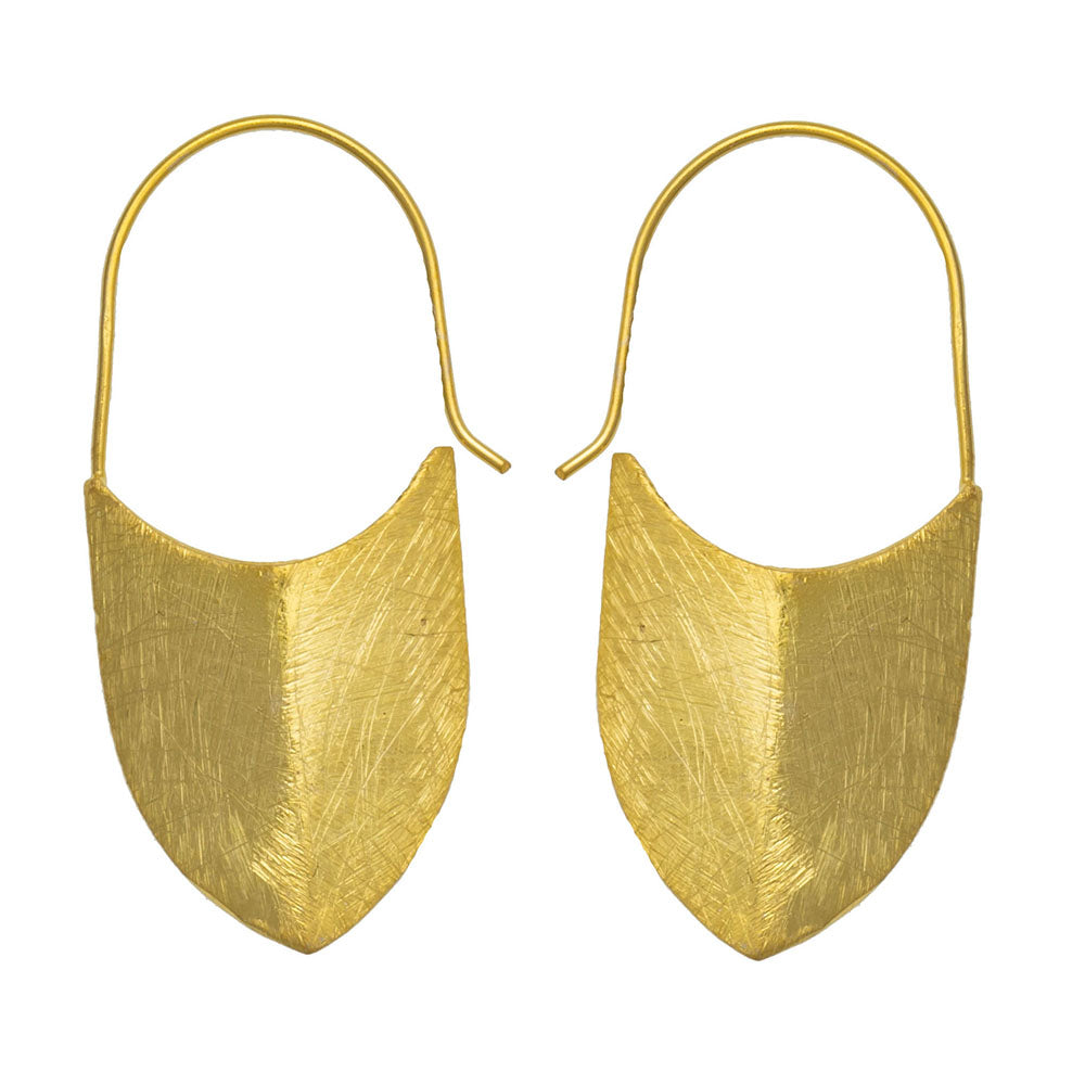 Gold plate Babouche earrings