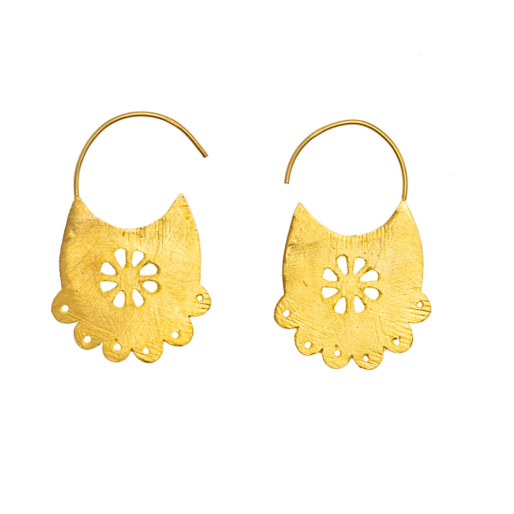 Gold plate Casablanca earrings