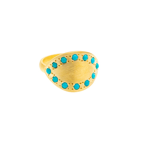 Moulded Turquoise Ring - SOLD OUT
