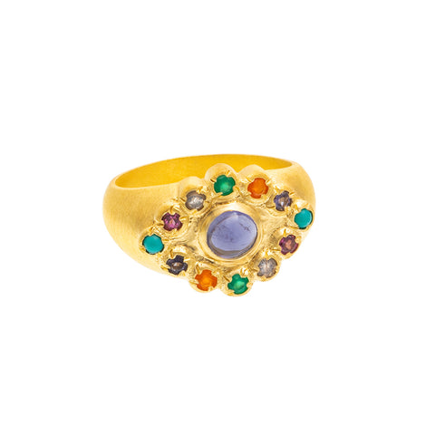 Iolite Candy Ring