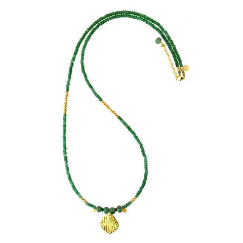Beaded Green Aventurine Necklace