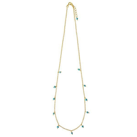 Fine Gold Chain with Turquoise