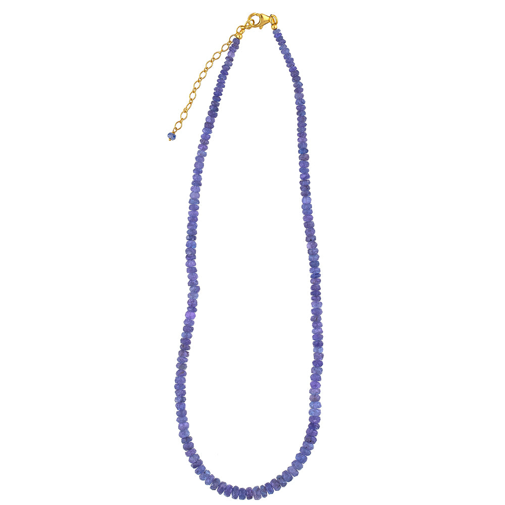 Tanzanite Beaded Necklace