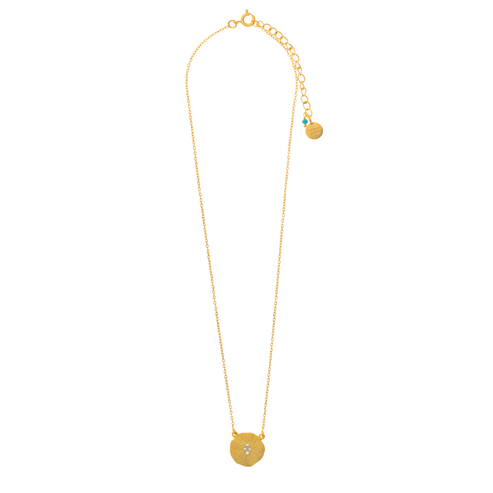 Gold plate Nugget Pendant with Cubic Zirconia - SOLD OUT