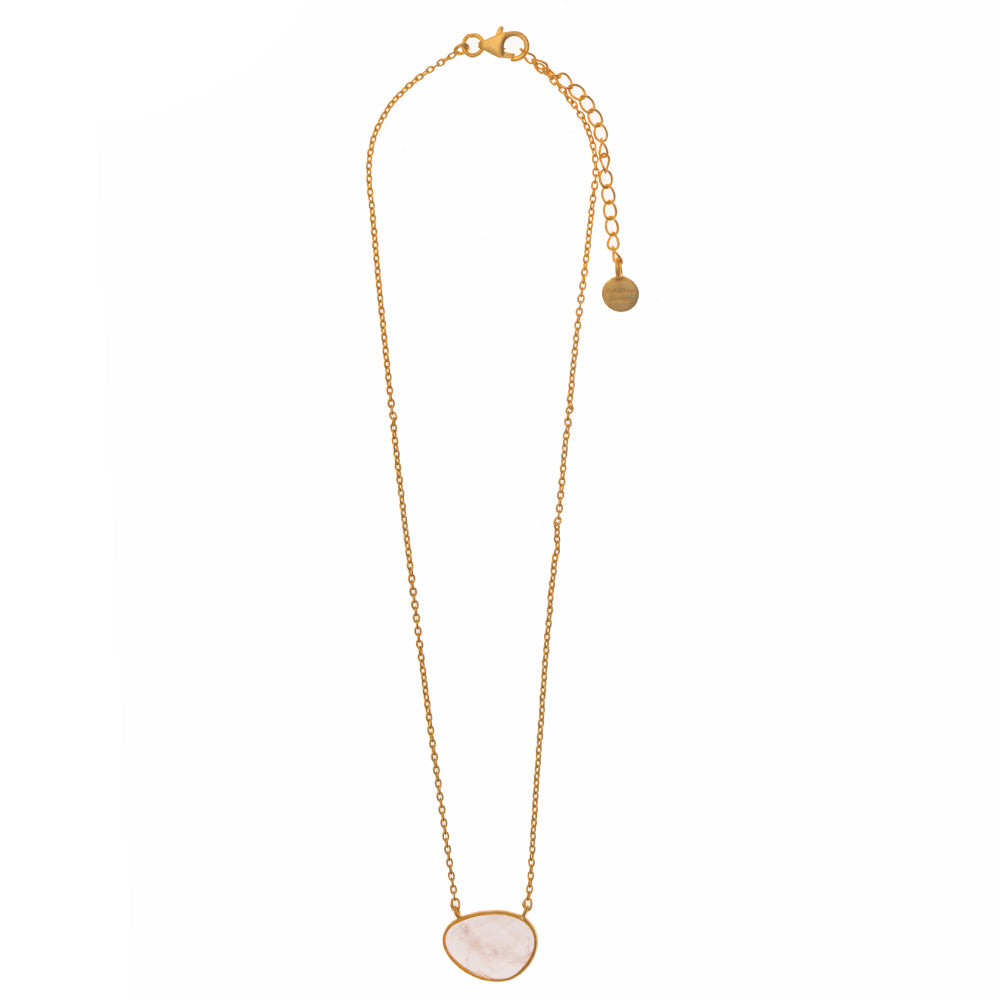 Faceted Rose Quartz Pendant Necklace - PRE ORDER DUE LATE JUNE