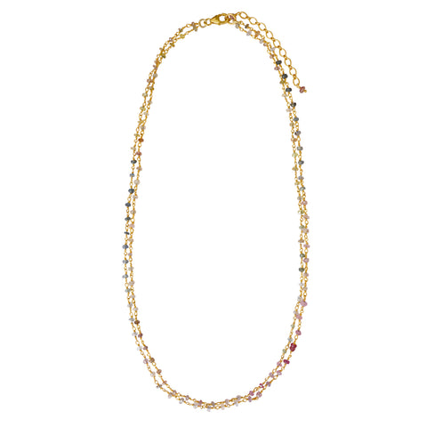 Multi Sapphire link necklace - PRE ORDER
