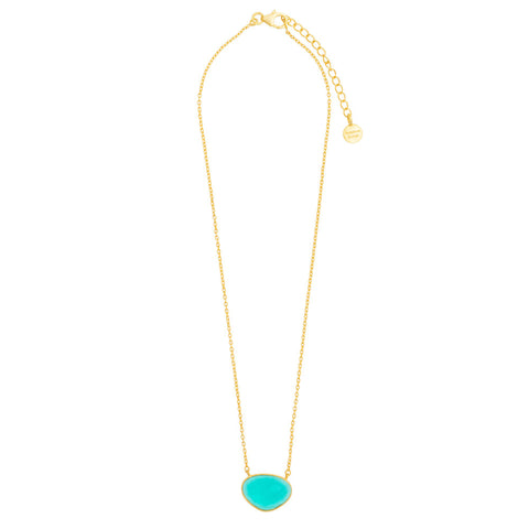 Faceted Apatite glass necklace