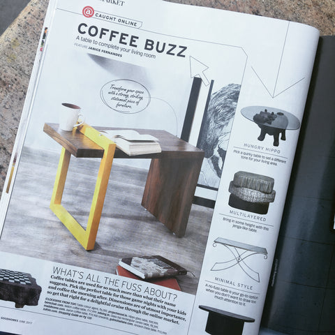 Our coffee table got featured!