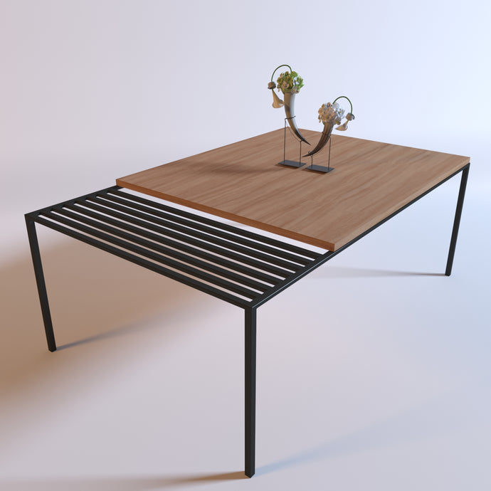 Black & Groove Coffee Table